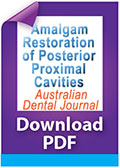 Download Amalgam restoration of posterior proximal cavities with deep and concave gingival outlines