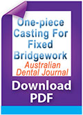 Download PDF One-piece casting for fixed bridgework