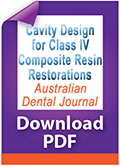 Download PDF Cavity design for Class IV composite resin restorations