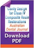 Download PDF Cavity design for Class IV composite resin restorations