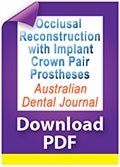 Occlusal reconstruction with implant crown pair prostheses